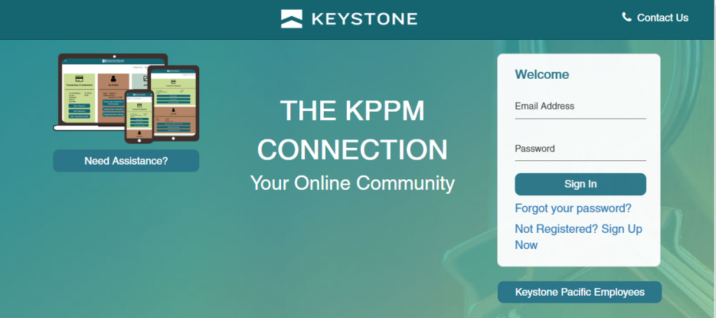 KPPM Connection Portal Homepage